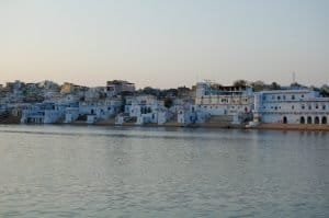 Pushkar lake months into Aeration in January 2009